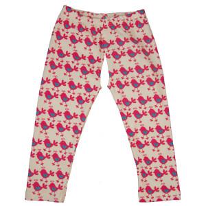 EC Wear Split Pants Pink Chickadees Cotton Open