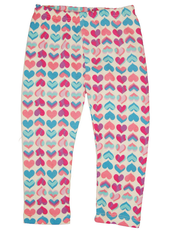EC Wear Split Pants Pink Hearts Cotton