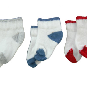 contrast crew grey, blue, red