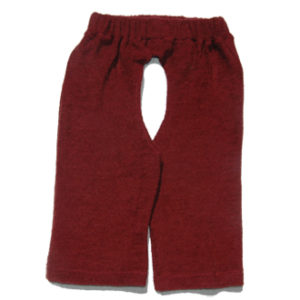 L'il Baby Chaps burgundy wool