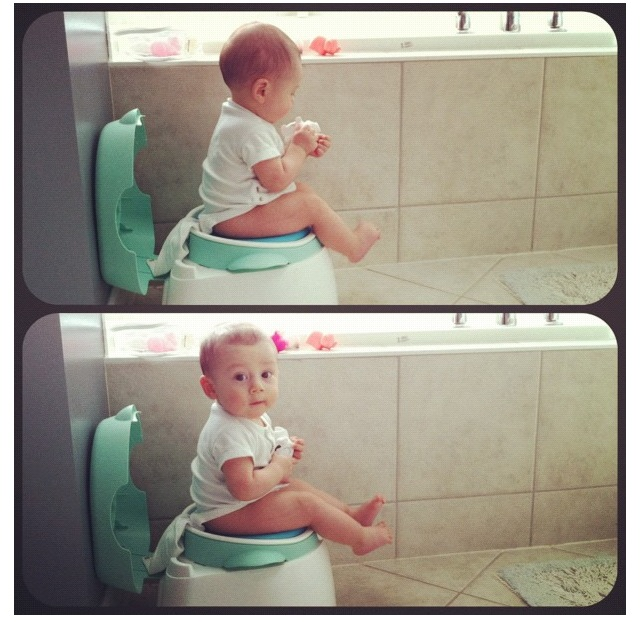 Baby on potty