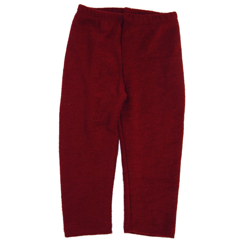 EC Wear Split Pants Burgundy Wool Terry