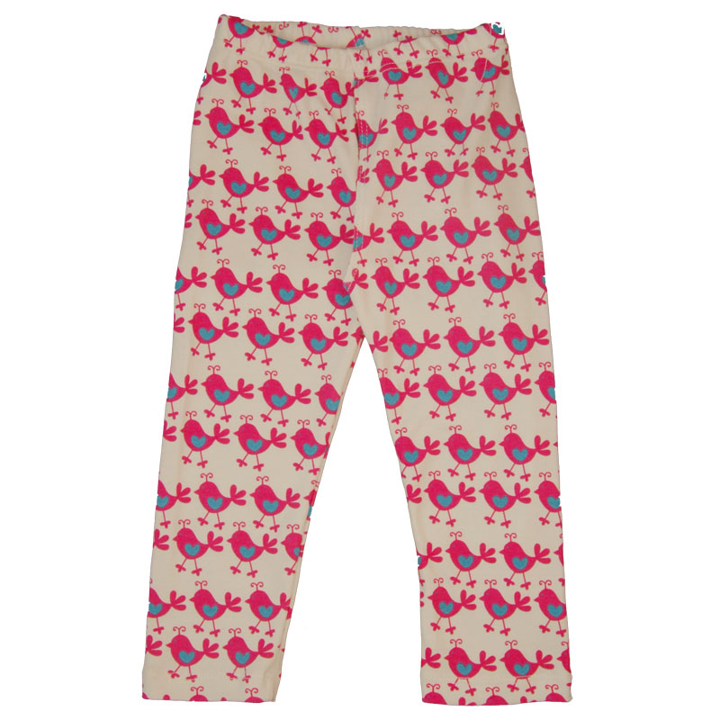 EC Wear Split Pants Pink Chickadees Cotton
