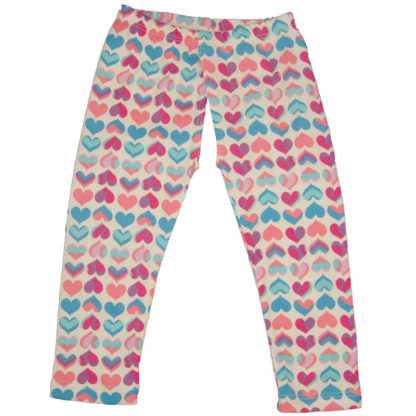 EC Wear Split Pants Pink Hearts Cotton Open