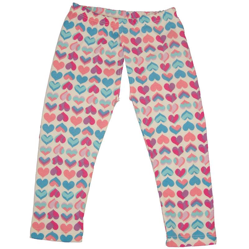 EC Wear Split Pants Pink Hearts Cotton Open