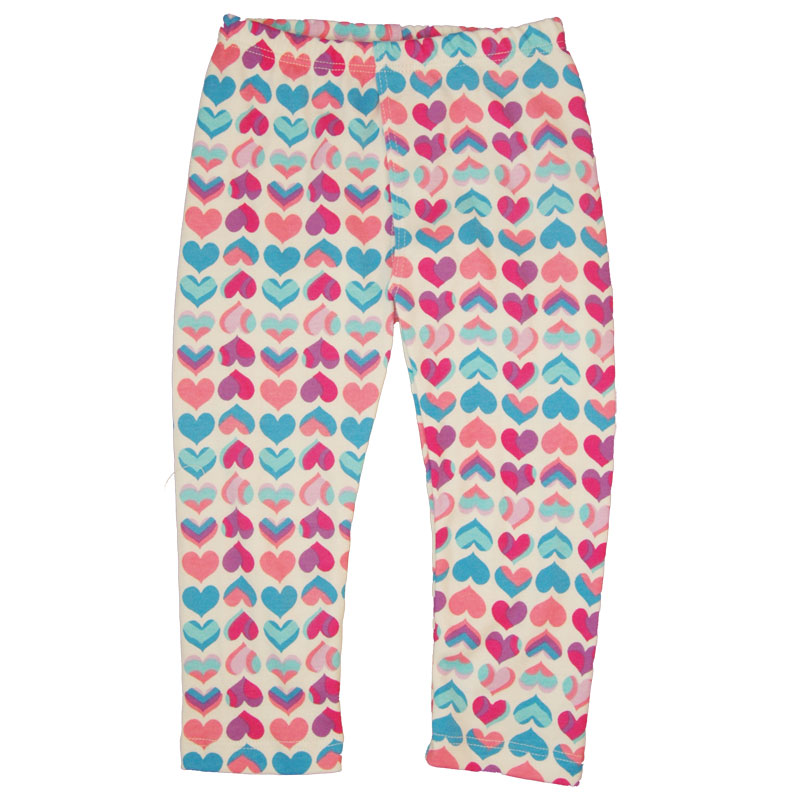 EC Wear Split Pants Pink Hearts Cotton