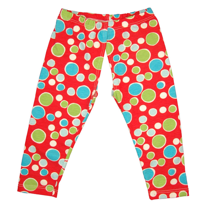 EC Wear Split Pants Red Dots Cotton Open