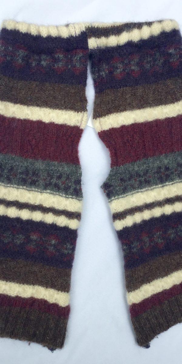 ReEwes wool split pants Forest Stripes