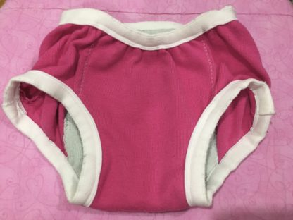 WhyMommy Training Pants pink with white edge